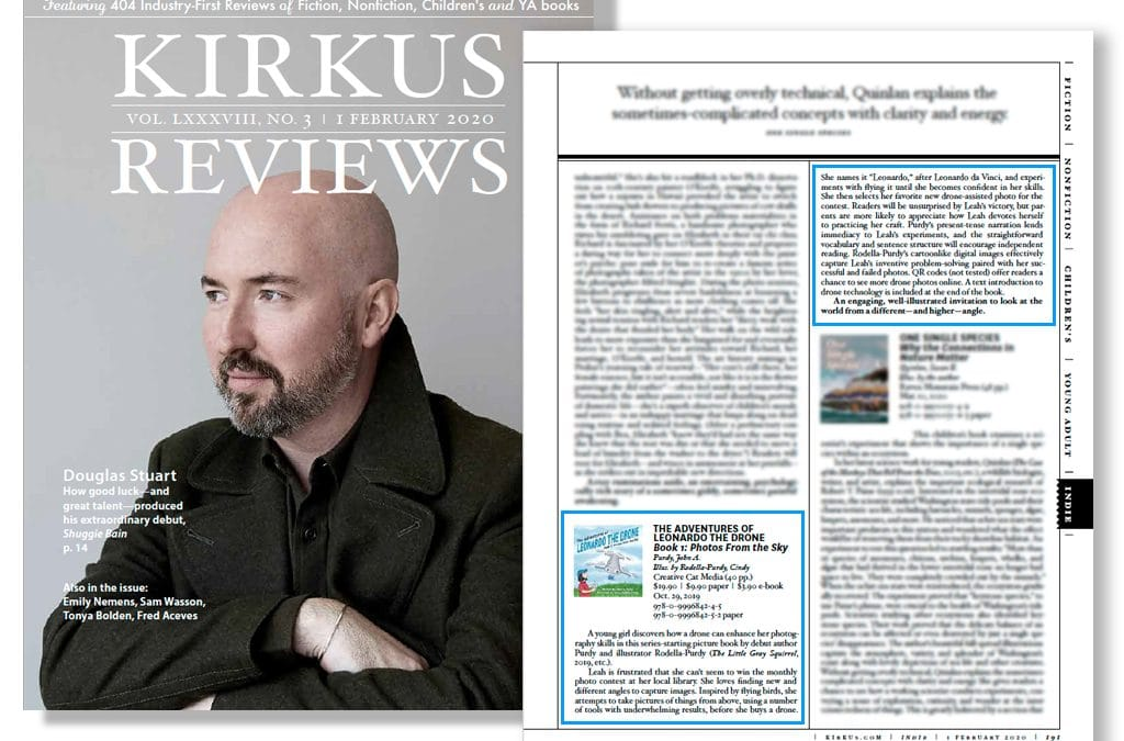 Leonardo the Drone Book Featured in Kirkus Review Magazine