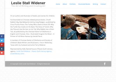 Leslie Stall Widener – Writer/Illustrator